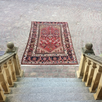 14903 Malayer antique persian rug 6 x 5 ft - 180 x 148 cm