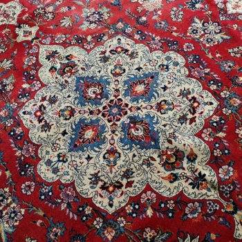 Kashan Persian Rug 14 x 10 ft