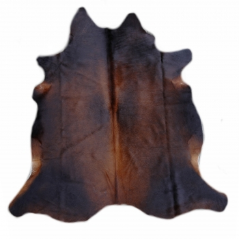 15222 Cowhide Rug XL Premium 7.0 x 6.6 ft cm Dark Brown