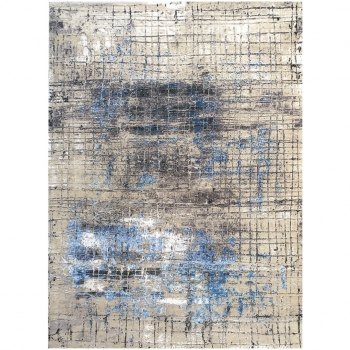 15493 Modern Design Rug Anastasia hand knotted 6.7 x 4.4 ft abstrakt Wool Bamboo Silk